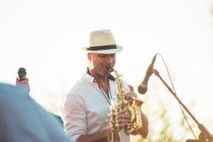 Saxofonista a DJ na svatbu Vláďa