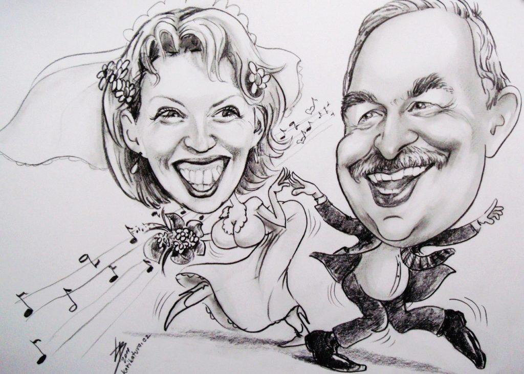 Karikaturista Praha Dj na svatbu Praha