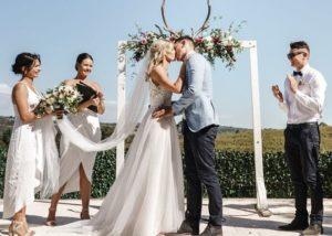 Svatební obřad se svědky