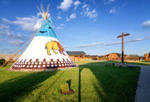 Barešův ranč - Indiánský stan